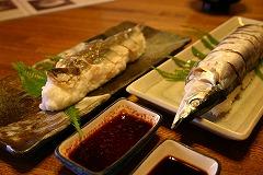 Sanma-sugata-zushi (saury sushi)